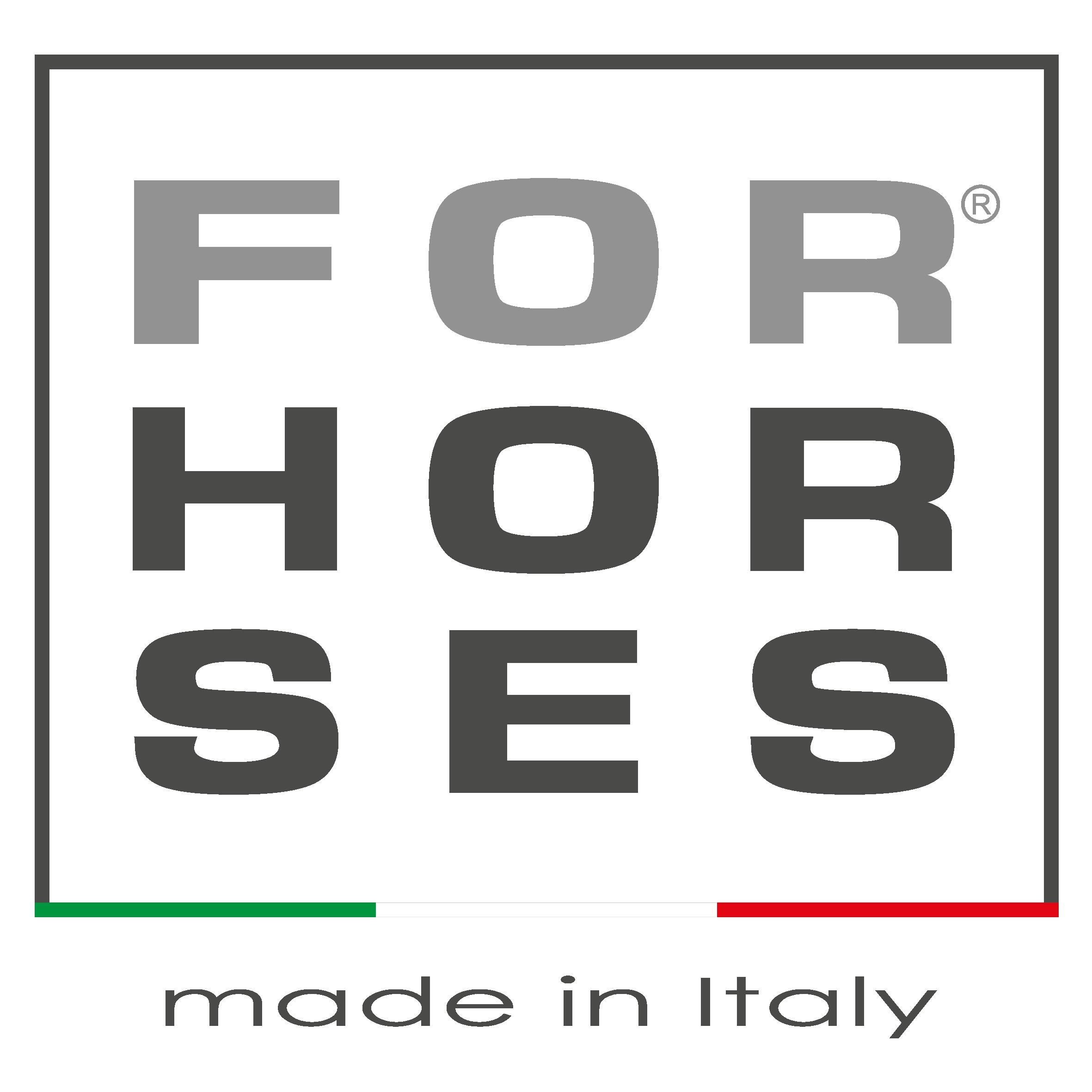 logo azienda For Horses produzione di mascherine e capi di abbigliamento per l'equitazione